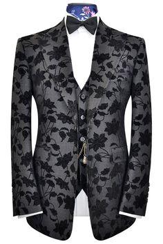 d9f5edd6649e The Artlett Black Floral Velvet Suit. Velvet SuitSavile RowThree ...