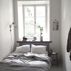 I need white windows Dream Bedroom, Home Bedroom, Bedroom Decor, Bedrooms, Small Bedroom Inspiration, Bedroom Workspace, Luxury Staircase, Small Guest Rooms, Studio Apartment Decorating
