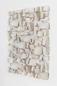 Modern Maren Kloppmann, Wall Pillow Field, white ceramic wall installation For Sale Ceramic Wall Art, Ceramic Pottery, Ceramic Decor, Wall Sculptures, Sculpture Art, Abstract Sculpture, Modernisme, Décor Boho, Wall Installation