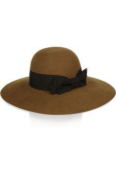 Saint Laurent|Wide-brim rabbit-felt hat|NET-A-PORTER.COM