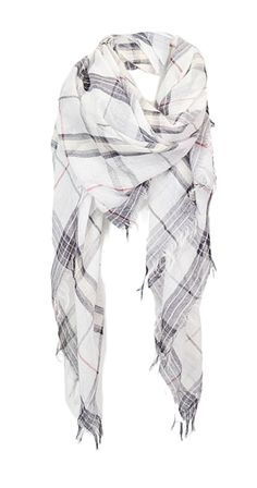 Who says scarves can't be for spring time too! This light, airy scarf has fringe along the sides and a light plaid detailing. Complete your look with the Frayed Plaid Scarf. Casual Chic Style, Boho Chic, Silver Icing, Shops, White Plaid, Fashion Company, Plaid Scarf, Fashion Accessories, Womens Fashion