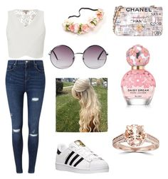 """""""Untitled #5"""" by agostina-fernandez on Polyvore featuring Miss Selfridge, Lipsy, Chanel, Monki, adidas, Marc Jacobs and Bliss Diamond"""