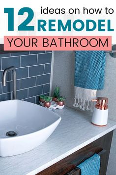 Give a makeover t your bathroom with these budget-friendly decoration ideas. DIY bathroom remodeling tips. No matter if your bathroom is small or big, these bathroom makeover ideas will work for you too. Cheap Bathroom Flooring, Cheap Bathrooms, Diy Flooring, Small Bathroom, Bathroom Ideas, Bathroom Renos, Bathroom Wall, Bathroom Interior, Cheap Bathroom Makeover