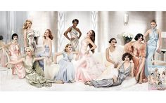 """My first thought when I saw this Vanity Fair cover photo was, """"I want to play dress up!"""" I was a little kid again :)  That's Phil Collins' actess daughter, Lily on the far right (in the salmon-pink gown)."""