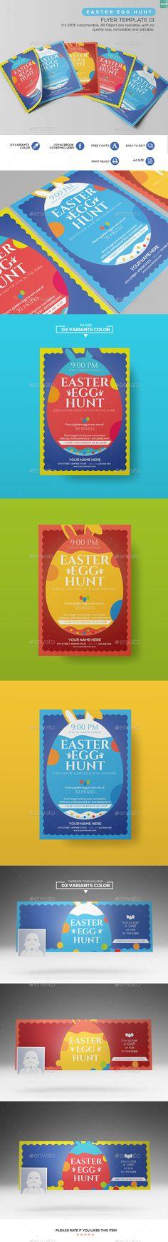 Easter Egg Hunt - Flyer Template 01
