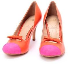 bi color bow pumps/ POPSUGAR Shopping: Minimum バイカラーリボンパンプス