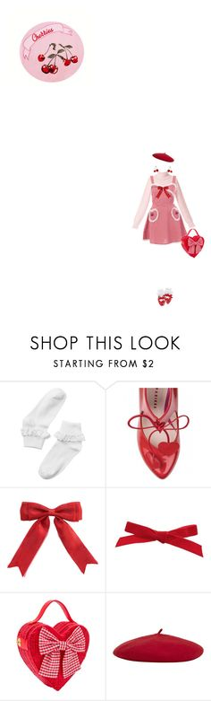 """""""Cherry berry"""" by bubblegumbae ❤ liked on Polyvore featuring Monki, Minna Parikka, Copper Key, Reiss, kawaii, cherry, jfashion and redpink"""