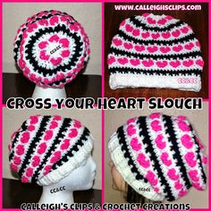 Calleigh's Clips & Crochet Creations: Cross Your Heart Slouchy Crochet Pattern