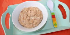 Fulgi de castane cu lapte si carob Oatmeal, Grains, Rice, Breakfast, Food, The Oatmeal, Morning Coffee, Rolled Oats, Eten