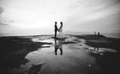Olowalu Maui Wedding : Black and White Wedding Photo #blackandwhitephotography #mauiwedding #mauiweddingphotographer #annakimphotography