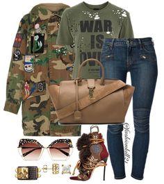 Military Style Jacket #Marcjacobs Shirt #Topshop Jeans #Farfetch Bag #Ysl Shoes #Dsquared Frames #Krewe #styledbyfashionkill21