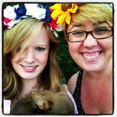 our flower crowns DONE!