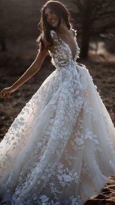 Fairy Wedding Dress, Cute Wedding Dress, Country Wedding Dresses, Long Wedding Dresses, Tulle Wedding, Bridal Dresses, Mermaid Wedding, Wedding Country, Gypsy Wedding