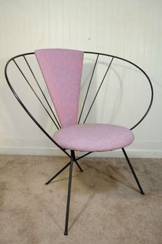 Anonymoue; Enameled Metal Chair, 1950s.