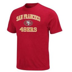 San Francisco 49ers Majestic Heart & Soul II Red T-Shirt: Sports & Outdoors http://www.santasyeararoundtoyshop.com/San-Francisco-49ers-Jerseys-and-Hats-and-Football-Gear.html #49ers_gear #sanfranciscohelmet #footballjerseys49ers #bestsanfrangear #nfl_football_gear #49ers_wallet