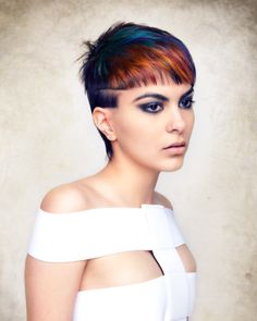 """""""Wind—Uplifting and Sassy"""" from Joico Guest Artist, Chad Demchuk's latest collection titled """"The Fifth Element."""" Click to cut and color how-tos."""