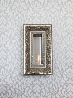 Vintage Picture Frame Wall Firespace by Terra Flame Home at Gilt