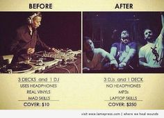The music industry before and after