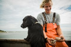 Farm owner Nic Turner and Willow.