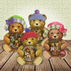 Heathers - Inspiration    Teddy Bear's Picnic - Card kit  available in our shop   (from Hunkydory) x