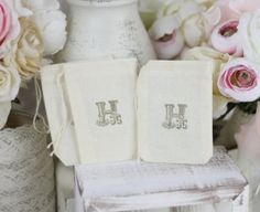 Personalized Wedding Favor Bags Rustic Shabby Chic Candy Bags Dessert Bar SET of 50
