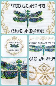 Just loving this elegant dragonfly, such a funny cross stitch pattern