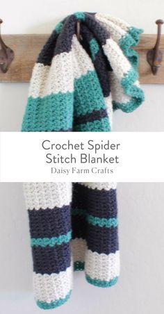 Free Pattern - Crochet Spider Stitch Blanket