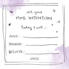 Set your intentions x