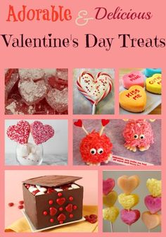 "What says more ""Valentine's Day"" than sweets? Cute Valentine's Day treats are the ultimate craft and food combo - it's a fraft! (That's so fetch - I think it will for sure stick.c'mon it's a Mean Girls reference! Valentines Treats Easy, Valentines Day Treats, Valentine Day Love, Valentine Day Crafts, Holiday Treats, Holiday Fun, Valentine Cupcakes, Valentine Images, Valentine Recipes"