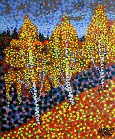Autumn Birches Art Print by The Art Garage - X-Small Abstract Sculpture, Sculpture Art, Sculptures, Drawn Art, Acrylic Artwork, Original Art For Sale, Rock Art, Online Art, Insta Art