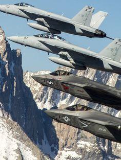 Super Hornet and Lightning II