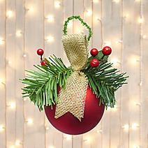 Large Bauble with Tree Sprig