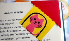 Marcador de livro feito com papel de #origami #paper #corner #DIY #bookmark