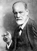 22 november 2011: Borstvoeding op verzoek. Foto: Sigmund Freud, grondlegger van de psychoanalyse, met een zuigobject.