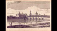 Lima con un puente que cruza el río Rímac (1825).  | Fuente: Alexander Caldcleugh.