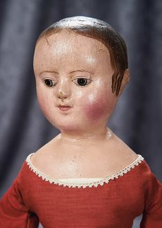 """Among Friends, The Billie and Paige Welker Collection"": 5 Fine American Cloth Doll by Izannah Walker with Ringlet Curls and Rare Painted Shoes"