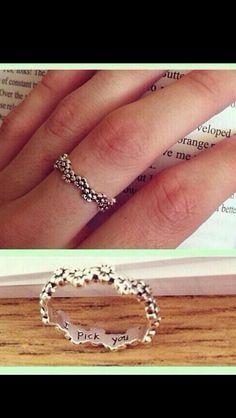 I pick you flower ring