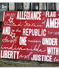 Pledge of Allegiance - Patriotic Home Decor - - absolutely LOVE this!