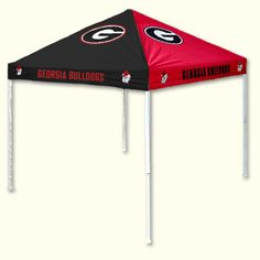 University of Georgia alternated red and black (pinwheel) easy-up instant shelter tailgating tent with Georgia G logo on top panels Bulldog Head logos and ... & UGA Tent | UGA | Pinterest | Lacrosse NHL and NBA