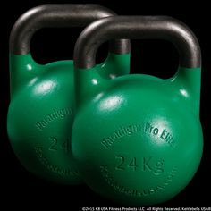 Pair of 24 kg - 53 lb Paradigm Pro® Elite Precision Steel Competition Kettlebells - Free Shipping