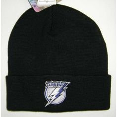 Tampa Bay Lightning Cuffed Knit Hat #TampaBayLightning Visit our website for more: www.thesportszoneri.com