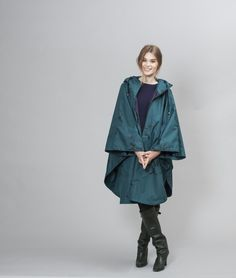 Stylish waterproof throw-over.  #raincoat #rainponcho #stylish #waterproof