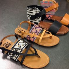 It's all about the aztec detail on these new summer sandals!