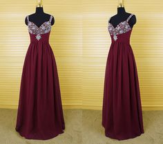 Burgundy Prom Dresses,Prom Dress,Prom Dresses,Wine Red Prom Dresses,Formal Gown,Evening Gowns,Modest Party Dress,Chiffon Prom Gown For Teens