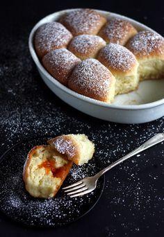 Buchteln – Sweet Austrian Yeast Buns filled with apricot jam.
