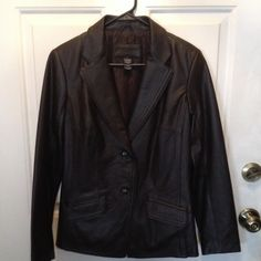 ON SALE Jaclyn Smith Classic Leather Jacket On Sale Beautiful chocolate leather jacket with embroidery trim - decorative lining - NWOT Jaclyn Smith Jackets & Coats