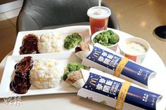 Mcdonald's Hong Kong has rolled out rice menu for only HK$28 per set including drinks. You can choose to go for set rice or rice wrap with drink. Anyone wish to try it? ^^