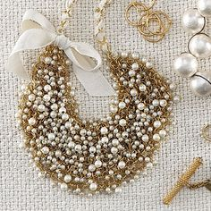 Pearl Cluster Necklace with Bow, Joanna Laura Constantine (ran in Coastal Living) $175. Happy Mother's Day (hint, hint)