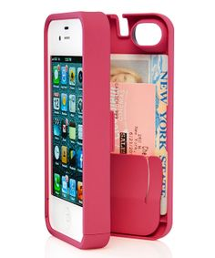 iPhone Case with a secret wallet + compact mirror compartment! Perfect for a night out.