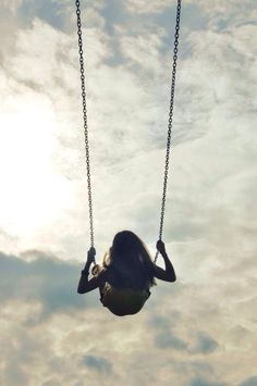 Every time I get on a swing, I feel like a child again, who can just fly away from all her problems... I just ... want things to go back to the way they used to be......